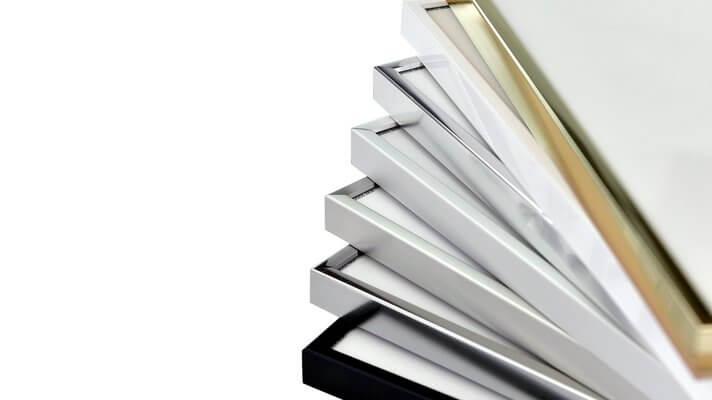 Silber 70x70 cm Accent Aluminium Bilderrahmen Accent